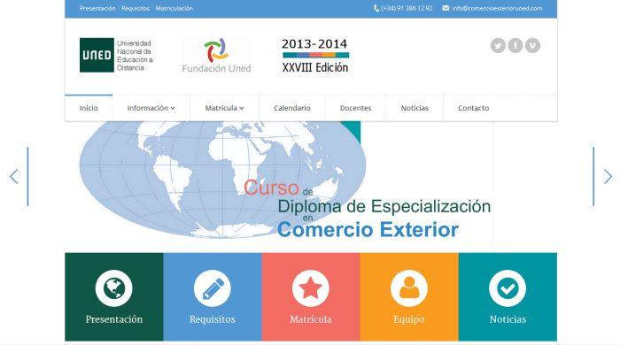 Curso de Comercio Exterior de la UNED. Portada