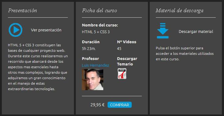 videocurso html5 css3. SinLios. Luis Hernandez Peña