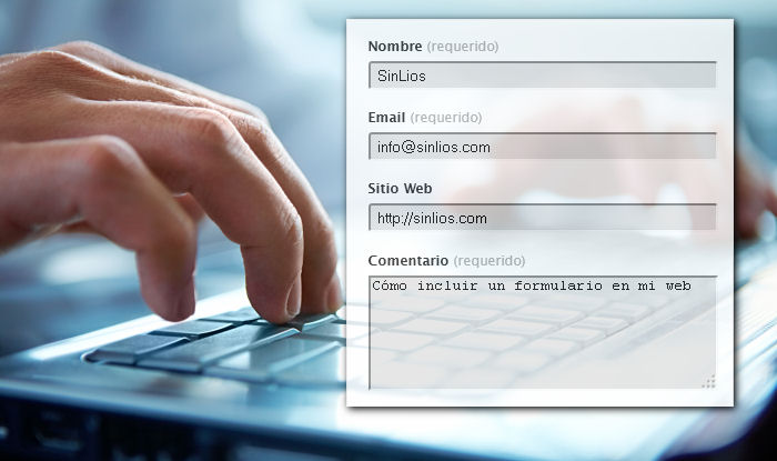Cómo poner un formulario en mi web o WordPress