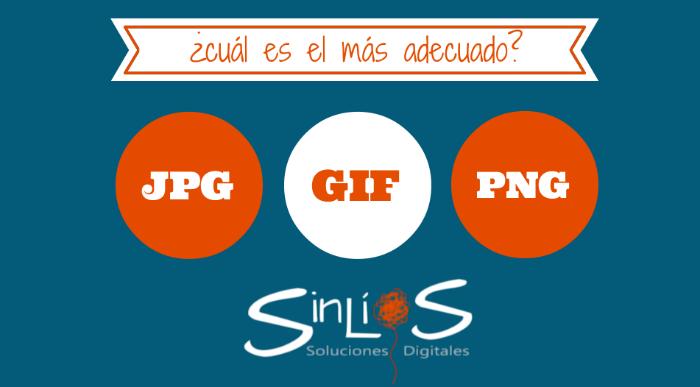 Cuando utilizar JPG, GIF o PNG