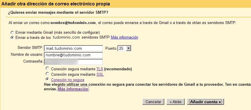 correo externo en gmail