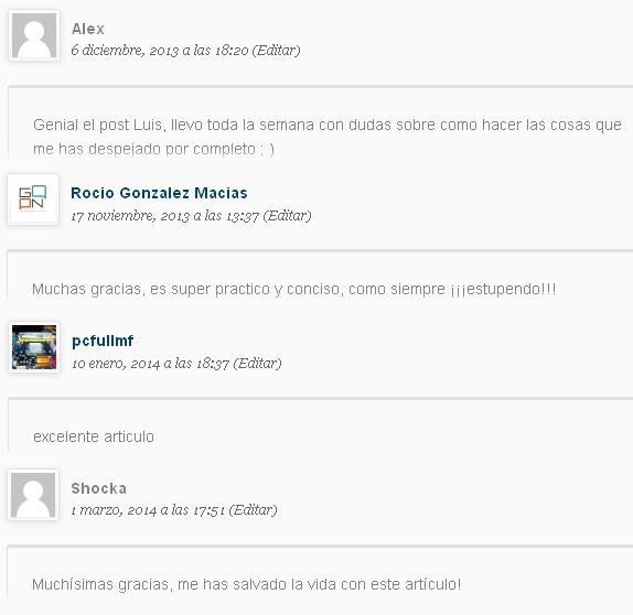comentarios blog sinlios