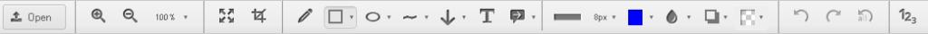 barra de herramientas de nimbus