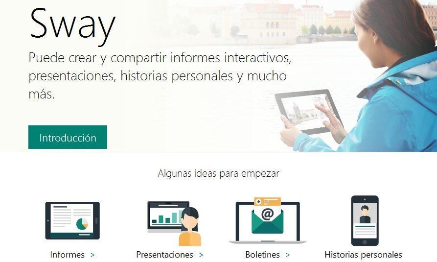 Sway, la nueva herramienta de presentaciones de Microsoft