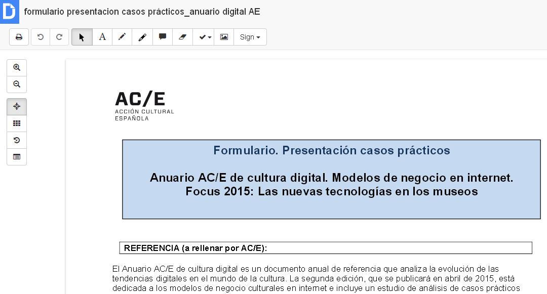 Editar un PDF con DocHub