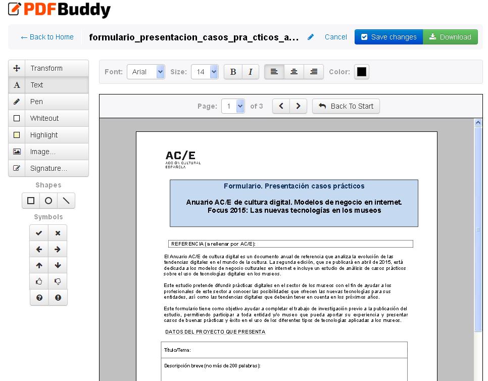 Editar un PDF con PDF Buddy