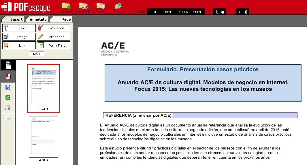 Editar un PDF con PDFescape