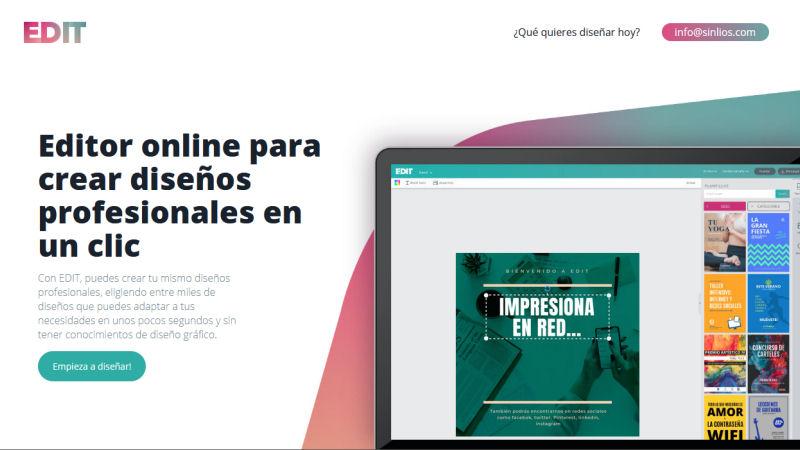 Con edit.org diseña fácilmente imágenes para tus redes sociales